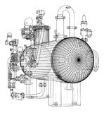 Βιομηχανικός εξοπλισμός σκίτσων διανυσματική απεικόνιση