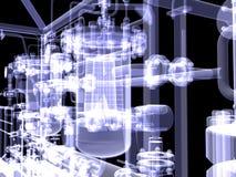 Βιομηχανικός εξοπλισμός. Η ακτίνα X δίνει διανυσματική απεικόνιση