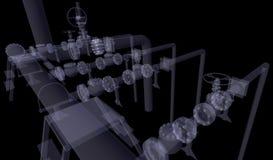 Βιομηχανικός εξοπλισμός. Η ακτίνα X δίνει απεικόνιση αποθεμάτων