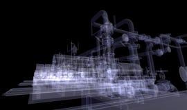 Βιομηχανικός εξοπλισμός. Η ακτίνα X δίνει ελεύθερη απεικόνιση δικαιώματος