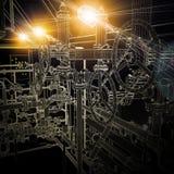Βιομηχανικός εξοπλισμός καλώδιο-πλαισίων Φωτεινό φως από ελεύθερη απεικόνιση δικαιώματος
