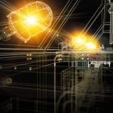 Βιομηχανικός εξοπλισμός καλώδιο-πλαισίων Φωτεινό φως από διανυσματική απεικόνιση