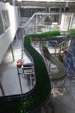 Βιομηχανικός εξοπλισμός στις μονάδες των εγκαταστάσεων για την παραγωγή της μπύρας Στοκ Εικόνες