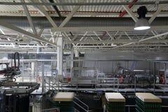 Βιομηχανικός εξοπλισμός στις μονάδες των εγκαταστάσεων για την παραγωγή της μπύρας Στοκ εικόνα με δικαίωμα ελεύθερης χρήσης