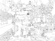 Βιομηχανικός εξοπλισμός απεικόνιση αποθεμάτων