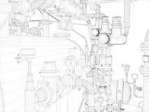 Βιομηχανικός εξοπλισμός διανυσματική απεικόνιση