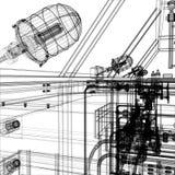 Βιομηχανικός εξοπλισμός ελεύθερη απεικόνιση δικαιώματος