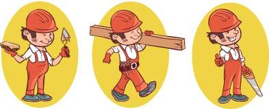 Βιομηχανικός εργάτης οικοδομών απεικόνιση αποθεμάτων