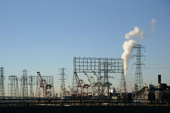 Βιομηχανικός λιμένας του Λος Άντζελες Στοκ Εικόνες