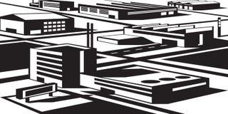 Βιομηχανικός και οικονομική ζώνη Στοκ Φωτογραφία