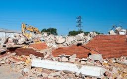 βιομηχανικός κατώτερος κατεδάφισης οικοδόμησης Στοκ εικόνα με δικαίωμα ελεύθερης χρήσης