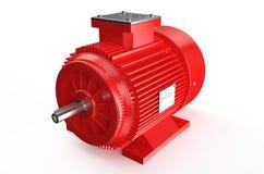 Βιομηχανικός κόκκινος ηλεκτρικός κινητήρας ελεύθερη απεικόνιση δικαιώματος