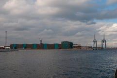 Βιομηχανικός λιμένας της Κοπεγχάγης Στοκ φωτογραφία με δικαίωμα ελεύθερης χρήσης