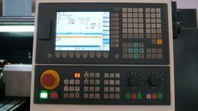 Βιομηχανικός μακρινός πίνακας ελέγχου του μετάλλου που εργάζεται manufactory απόθεμα βίντεο