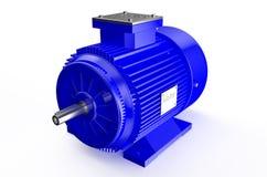 Βιομηχανικός μπλε ηλεκτρικός κινητήρας απεικόνιση αποθεμάτων