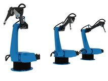 Βιομηχανικός ρομποτικός βραχίονας που απομονώνεται απεικόνιση αποθεμάτων