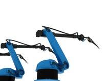 Βιομηχανικός ρομποτικός βραχίονας που απομονώνεται διανυσματική απεικόνιση