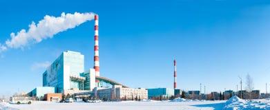 βιομηχανικός σταθμός παρ&alp Στοκ Εικόνες