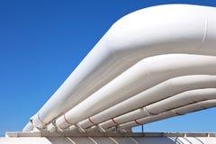 Βιομηχανικός σωλήνας με το αέριο και το έλαιο και το ύδωρ Στοκ Εικόνα