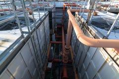 Βιομηχανικός σωλήνας για το υπόβαθρο Στοκ Φωτογραφία