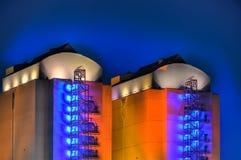 Βιομηχανικός σύνθετος τη νύχτα στοκ φωτογραφία με δικαίωμα ελεύθερης χρήσης