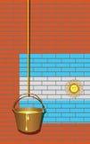 Βιομηχανικός τουβλότοιχος με τη σημαία της Αργεντινής ελεύθερη απεικόνιση δικαιώματος