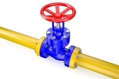 βιομηχανικός χάλυβας σωλήνων σωληνώσεων αερίου λεπτομέρειας περιοχής κίτρινος Στοκ εικόνα με δικαίωμα ελεύθερης χρήσης