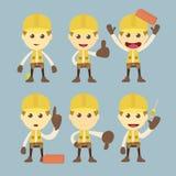 Βιομηχανικός χαρακτήρας εργατών οικοδομών ελεύθερη απεικόνιση δικαιώματος