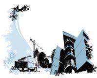 βιομηχανικός χειμώνας περιοχών ελεύθερη απεικόνιση δικαιώματος