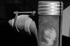 Βιομηχανικός ψαρευμένος σωλήνας Στοκ φωτογραφία με δικαίωμα ελεύθερης χρήσης