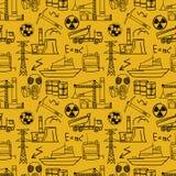 Βιομηχανικό άνευ ραφής σχέδιο σκίτσων στοκ φωτογραφίες