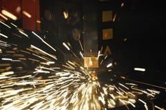 βιομηχανικό λέιζερ κοπτών Στοκ φωτογραφία με δικαίωμα ελεύθερης χρήσης