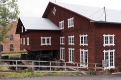 Βιομηχανικό αναμνηστικό Forsvik Bruk σε Forsvik, Σουηδία Στοκ εικόνα με δικαίωμα ελεύθερης χρήσης