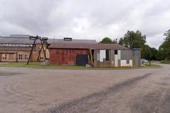 Βιομηχανικό αναμνηστικό Forsvik Bruk σε Forsvik, Σουηδία Στοκ εικόνες με δικαίωμα ελεύθερης χρήσης