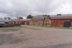 Βιομηχανικό αναμνηστικό Forsvik Bruk σε Forsvik, Σουηδία Στοκ Εικόνες