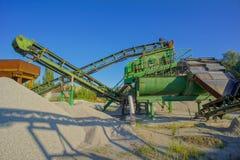 Βιομηχανικό λατομείο αμμοχάλικου Στοκ Εικόνες