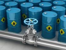 Βιομηχανικό βαρέλι βαλβίδων και αερίου Στοκ Εικόνα