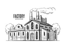 Βιομηχανικό διάνυσμα εργοστασίων Στοκ φωτογραφία με δικαίωμα ελεύθερης χρήσης