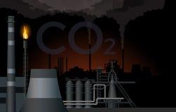 Βιομηχανικό διάνυσμα τοπίων απεικόνιση αποθεμάτων