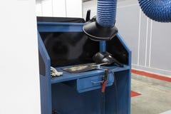 Βιομηχανικό εργαστήριο εξοπλισμού συγκόλλησης Στοκ φωτογραφία με δικαίωμα ελεύθερης χρήσης