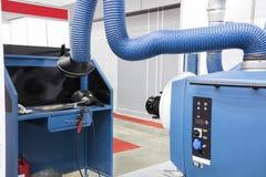 Βιομηχανικό εργαστήριο εξοπλισμού συγκόλλησης Στοκ εικόνα με δικαίωμα ελεύθερης χρήσης