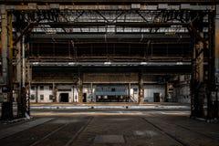 Βιομηχανικό εσωτερικό ενός παλαιού εργοστασίου Στοκ φωτογραφίες με δικαίωμα ελεύθερης χρήσης