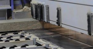 Βιομηχανικό εσωτερικό, εργοστάσιο επίπλων, κατασκευή επίπλων, μηχανή σχήματος για το χαρτόνι, MDF, διαδικασία φιλμ μικρού μήκους