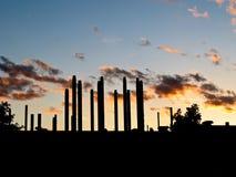 βιομηχανικό ηλιοβασίλεμα Στοκ εικόνα με δικαίωμα ελεύθερης χρήσης