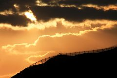 βιομηχανικό ηλιοβασίλε&mu στοκ φωτογραφίες με δικαίωμα ελεύθερης χρήσης