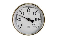 βιομηχανικό θερμόμετρο Στοκ φωτογραφίες με δικαίωμα ελεύθερης χρήσης