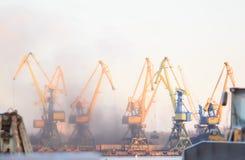Βιομηχανικό λιμάνι της Λετονίας Στοκ Εικόνα