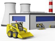 Βιομηχανικό κτήριο εργοστασίων ελεύθερη απεικόνιση δικαιώματος