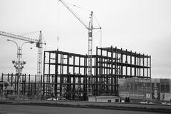 Βιομηχανικό κτήριο κάτω από την οικοδόμηση σε Kalinin Prospekt σε Pyatigorsk, Ρωσία Στοκ φωτογραφία με δικαίωμα ελεύθερης χρήσης