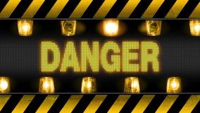 Βιομηχανικό οδόφραγμα τοίχων κινδύνου απεικόνιση αποθεμάτων